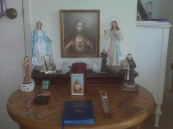 This Is An Earlier Form Of This Home Altar/shrine. See Below For A Newer  Picture.